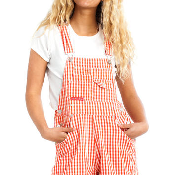 Vintage 90's Red Check Shortalls - XS/S/M