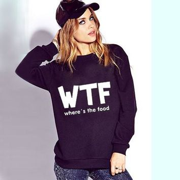 Where's the food pullover sweatshirt sweater