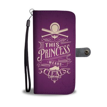 ESBV4S This Princess Wears Cleats Softball Princess Wallet Phone Case