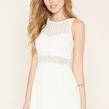 Ornate Lace Skater Dress
