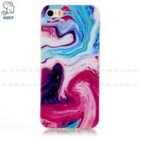 Ultra-thin Silicone Water Marbling iPhone Case