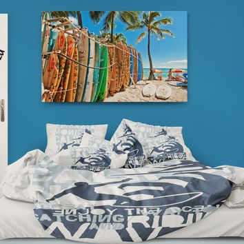 Catching Waves Surfer Bedding Eco Friendly Duvet Cover