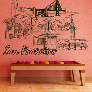 Vinyl Wall Decal Sticker San Francisco #1396
