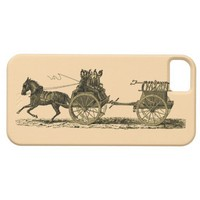 Vintage Horse Drawn Fire Engine Illustration iPhone 5 Cases from Zazzle.com