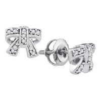 Diamond Fashion Earrings in 10k Gold 0.1 ctw