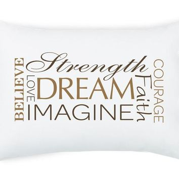 Inspiring Words Montage, Tie Closure Pillowcase