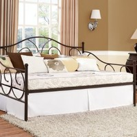 DHP Victoria Full Size Metal Daybed, Bronze