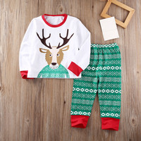 Autumn baby boy clothes Reindeer Christmas Pajamas Set Xmas Pjs Pyjamas Kid Boy Girl Sleepwear Nightwear
