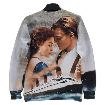 Men/women 3d sweatshirts Printed Film Titanic Jack Rose casual hoodies men Hoody Love Story W158