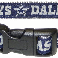Dallas Cowboys Dog Collar - Ribbon   Small