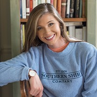 Loop Knit Terry Pullover in Brunnera Blue by The Southern Shirt Co.