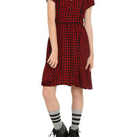 Red & Black Plaid Dress