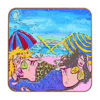 Renie Britenbucher Beached Mermaids Custom Clock
