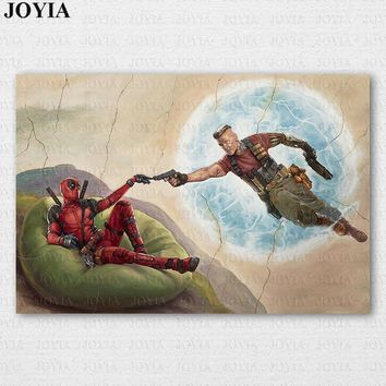 "Marvel Comics Deadpool Poster Movie Deadpool 2 Cable Canvas Art Prints Funny Classic Painting Room Wall Decor 24x36""28x42 Inch"
