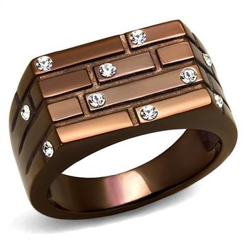 Kevin Brown Stainless Steal Stones Men's Ring