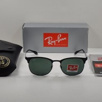 Cheap RAY-BAN SUNGLASSES CLUBMASTER RB3538 186/71 BLACK/GREEN CLASSIC LENS 53MM outlet