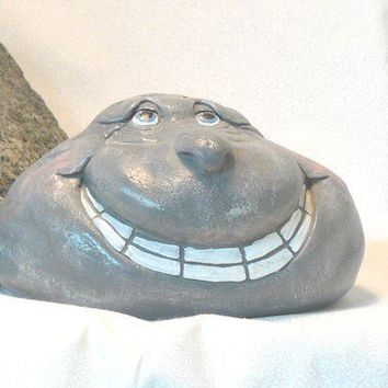 Ceramic Larry Rockhead Garden Decor by GrapeVineCeramicsGft