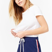 Striped-Trim Dolphin Shorts