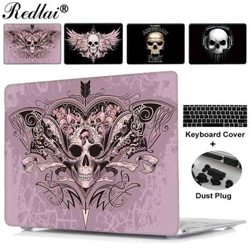 """Case For Macbook Air 11 13 new 12 inch Cover Fantasy Skull Print Plastic Hard Case For Mac Book Pro 13 15 Touch bar Retina 13"""""""