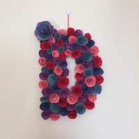 Customized Paper Floral Letter