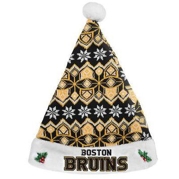 Licensed Boston Bruins Official NHL Knit Christmas Santa Hat by FC 209787 KO_19_1