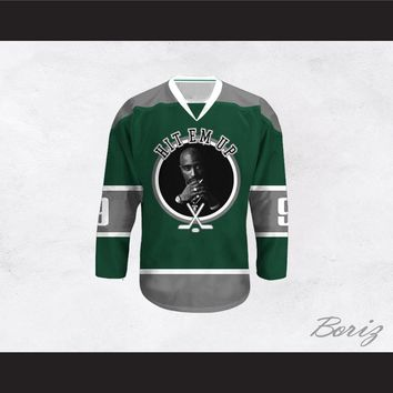 Tupac Shakur 9 Hit Em Up Hockey Jersey Design 3