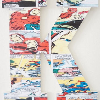 Comic Book Style Captain America and Iron Man Wooden Wall Letter Superhero Marvel DC Hulk Spider-Man Batman Superman Thor