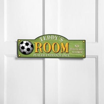 Personalized Kids Room Sign - Kick It Up