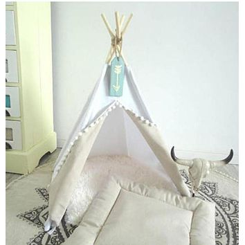 Doggie Kitty Tribal White Teepee for Your Precious Little Boho Pet