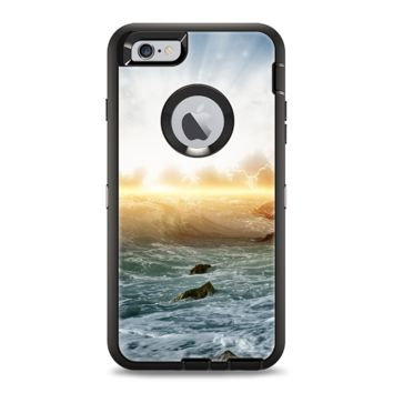 The Majestic Sky on Crashing Waves Apple iPhone 6 Otterbox Defender Case Skin