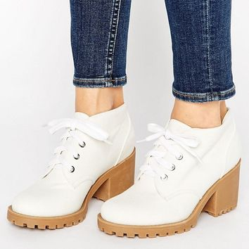 London Rebel Eyelet Lace Up Boots at asos.com