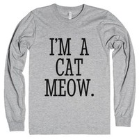 Cat Person I'm A Cat Meow Long Sleeve T-shirt Id870325-T-Shirt