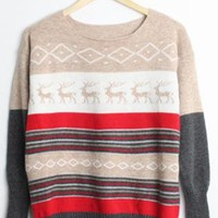 Little Elk Spell Color Bat Sleeve Sweater Pea Khaki S00041s