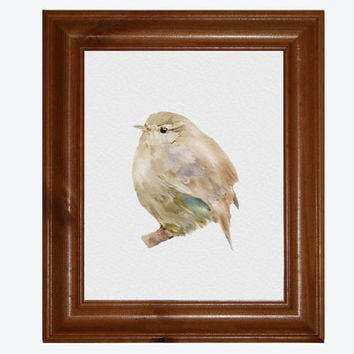 Bird Painting, Blackbird Print, 8x10 inch Bockingford Watercolour Paper, Country Art Print
