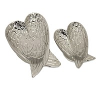 IMAX Eden Angel Wing Heart Tray (Set of 2) - 64156-2