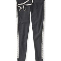 Aeropostale Southwest Hit Skinny Slouch Sweat Pants - Storm,