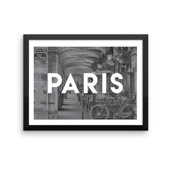 Paris | TRAVEL ART PRINT | A5/A4/A3/A2 - Paris Travel Poster, France, Graphic Design, Typography, Black and White