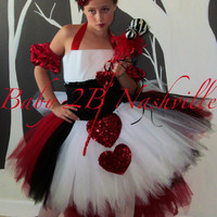 Queen of Hearts Pageant Complete Costume Set Girls Size 7-8