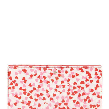 Kate Spade New York Confetti Heart Print Stacy Wallet