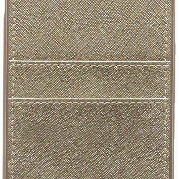 Michael Kors Metallic Electronic Leather Phone Cover with Pocket 7+