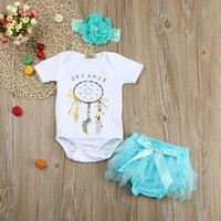 Abacaxi Kids Dreamcatcher Romper and Tutu Skirt + Headband