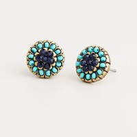 Turquoise and Blue Stud Earrings - World Market