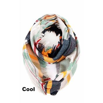 Plaid Blanket Infinity Scarf - 6 Colors