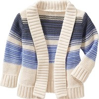 Old Navy Striped Open Front Cardigans For Baby