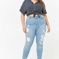 Plus Size Super High-Waist Jeans