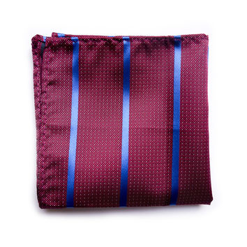 Maroon and Navy pocket square
