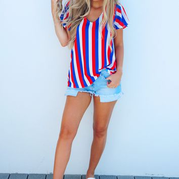 Home Of The Brave Top: Red, White, & Blue