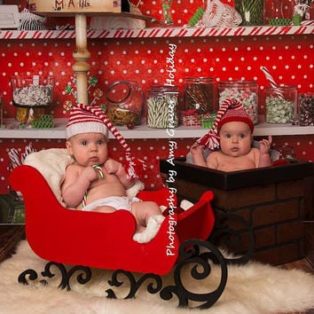 PJ's Sleigh Newborn Photography Prop newborn infant