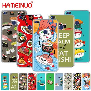 HAMEINUO Japanese cuisine Sushi food Cover phone Case for huawei Ascend P7 P8 P9 P10 P20 lite plus pro G9 G8 G7 2017