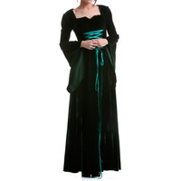 Green Gothic Dress Made of Velvet | Crazyinlove UK